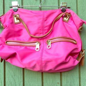 """Big Buddha Handbag Bright Pink 19"""" x 14"""""""